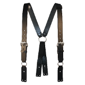Leather Suspender w/Button Attachment