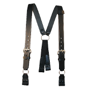 Leather Alligator Clip Suspenders