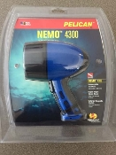 Pelican Nemo 4300 Submersible Flashlight, 276 Lumens, Blue
