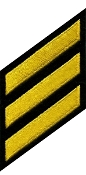 Hashmarks (Years of Service Stripes), Medium Gold on Black